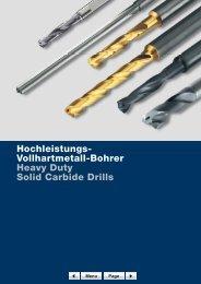 Hochleistungs- Vollhartmetall-Bohrer Heavy Duty Solid ... - Fa-metal