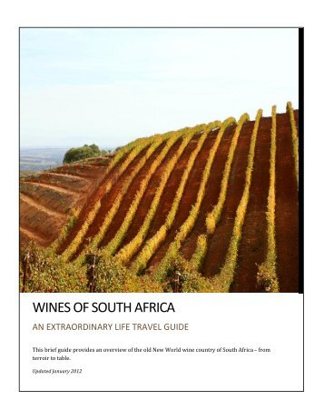 Wines of south africa - An Extraordinary Life Travel Experience