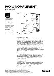 Binari Per Ante Scorrevoli Ikea.Pax Sistema Componibile Pdf Ikea