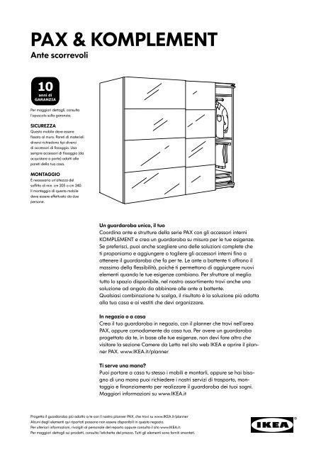 Sistema Ante Scorrevoli Ikea.Pax Komplement Ante Scorrevole Ikea