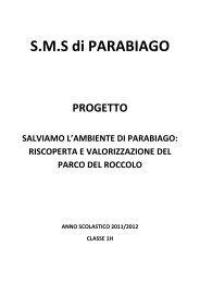 Riscoperta e Valorizzazione del Parco del Roccolo - Scuola Media ...