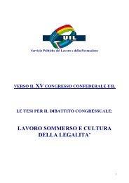 LAVORO SOMMERSO E CULTURA DELLA LEGALITA' - Uil