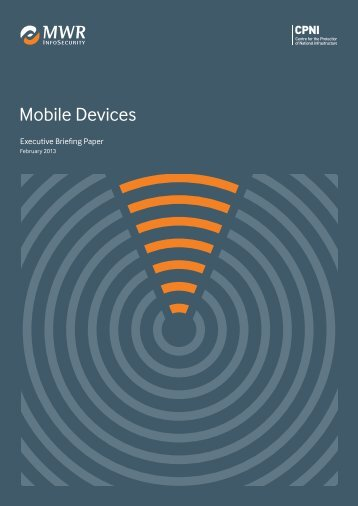 Mobile devices executive briefing paper - CPNI