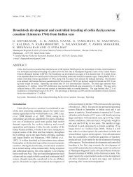 Broodstock development and controlled breeding of cobia - Eprints ...