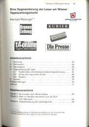 Eine Segmentierung der Leser am Wiener Tageszeitungsmarkt (3)