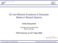 On the Effective Existence of Schauder Bases in Banach Spaces