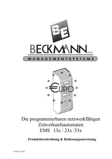 Die Anleitung von dem Münzautomat Beckmann ... - Münzer 24.de