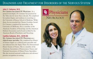 Neurology Mailer 0110.cdr - University of Oklahoma