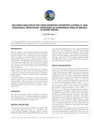 sex ratio analysis in the crab goniopsis cruentata (latreille 1803)