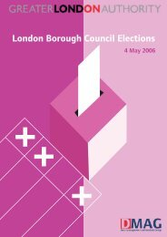 London Borough Council Elections - Greater London Authority