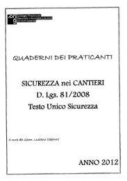 ' SICUREZZA nei CANTIERI D. Lgs. 81/2008 - Collegio dei Geometri ...