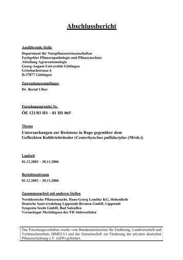 Abschlussbericht 2006 - BLE
