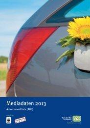 Auto-Umweltliste: Mediadaten print + web 2013