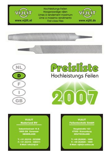 Hochleistungs Feilen - Vijlit Nederland B.V.