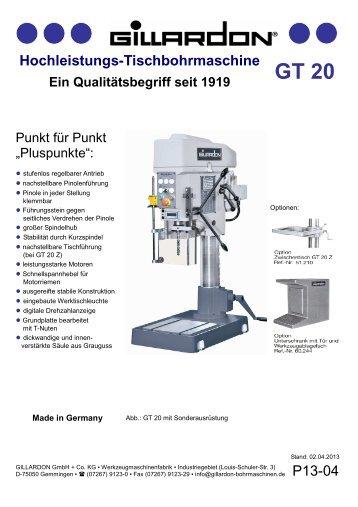Hochleistungs-Tischbohrmaschine - Gillardon GmbH & Co. KG