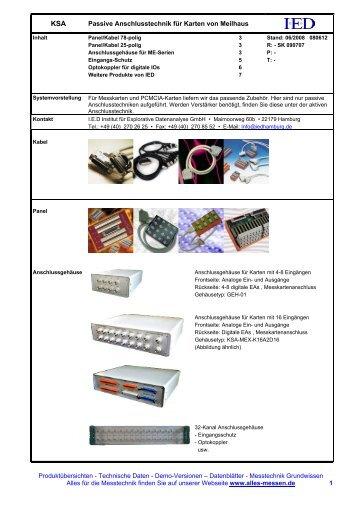 Informationen & Preise - Anschlusstechnik für Meilhaus