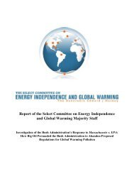Report - The Select Committee for Energy Independence and Global ...