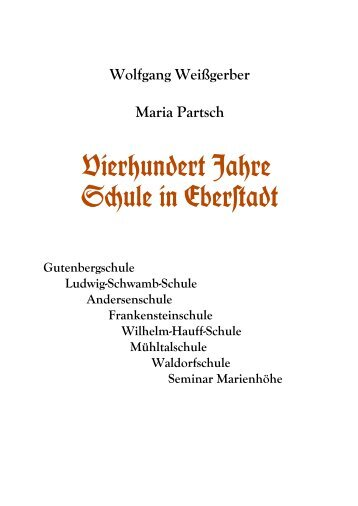 Eberstädter Schulgeschichte - Geschichtsverein Eberstadt ...