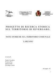"""Scarica l'Allegato: """" Cenni storici su Larzano """" - Centro di Lettura di ..."""