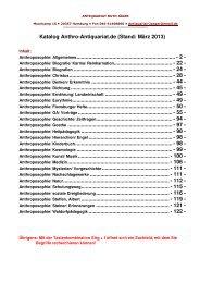 Katalog Anthroposophie März 2013 - Kataloge Antiquariat Jäger