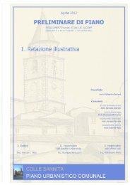 Tav. 1 - Relazione - Comune di Colle Sannita