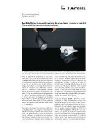 Zumtobel lance la nouvelle gamme de projecteurs Iyon sur le march