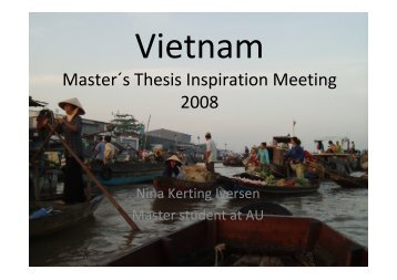 Master´s Thesis Inspiration Meeting 2008 - DDRN