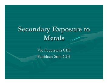 Secondary Exposure to Metals
