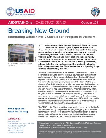 Download the Breaking New Ground Case Study - AIDSTAR-One