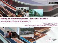 Making development research useful and ... - Deakin University