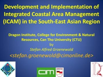 Climate Change Research Can Tho City, 19 March ... - CZM Soc Trang