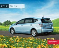 2012 Prius V Brochure - Mayfield Toyota