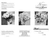 Bridal Brochure - Nancy Taylor Skin Therapy & Day Spa