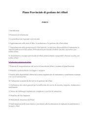 Piano Provinciale di gestione dei rifiuti - Montagna Pulita