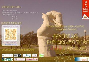 REALITAT 2.0: Experiències TIC en català a les aules