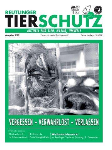Reutlinger Tierschutz 2/12 - Tierschutzverein Reutlingen eV