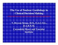 The Use of Nuclear Cardiology in Clinical Decision Making