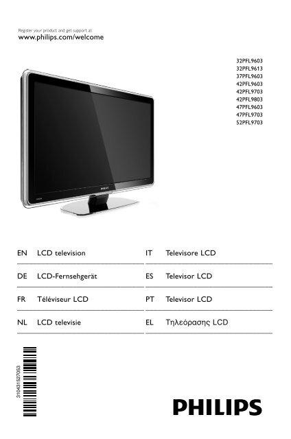 Philips 32PFL9613 LCD TV User Manual - Tv-Manual.com