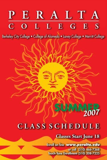 Download Summer Schedule 2007 - Peralta Colleges