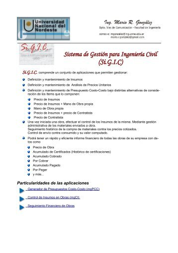 Documento Sigic