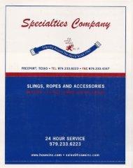 Specialties Slings