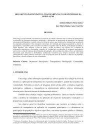 ORÇAMENTO PARTICIPATIVO ... - Artigo Científico