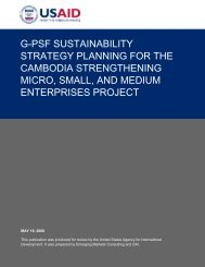 View / Download full report... - USAID Cambodia MSME