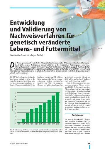 Entwicklung und Validierung von Nachweisverfahren für ... - transGEN