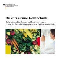 Broschüre des BMVEL zum Diskurs Grüne Gentechnik - transGEN