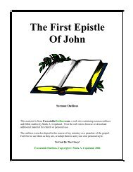The First Epistle Of John - Executable Outlines
