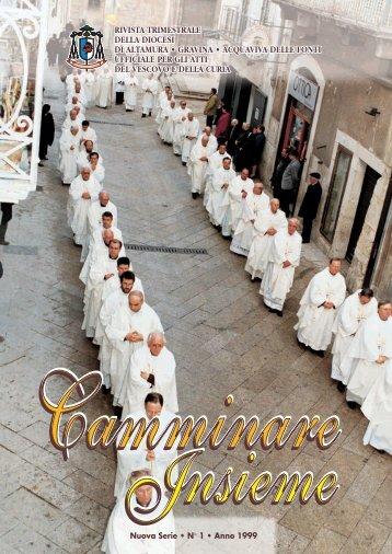 Camminare insieme 1_.. - Diocesi Altamura - Gravina - Acquaviva ...