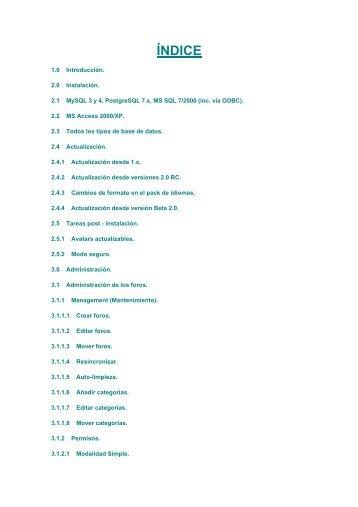 Manual instalación y gestión foros phpBB - Unetcom