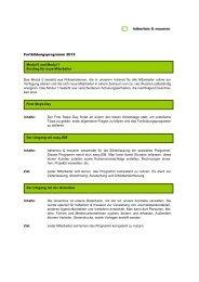 Fortbildungsprogramm 2012 - Häberlein & Mauerer AG