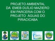 PROJETO AMBIENTAL DA EMEB DUÍLIO MAZIERO EM PARCERIA ...